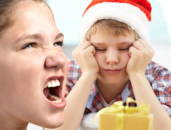Unzufriedenheit über das Weihnachtsgeschenk